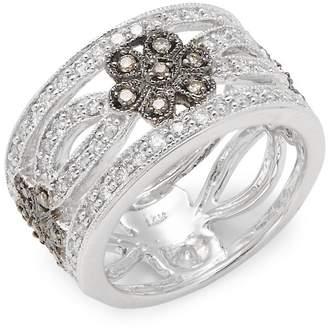 Effy Women's 14K White Gold Diamond Band Ring
