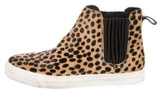 Loeffler Randall Cheetah Print Ponyhair Boots
