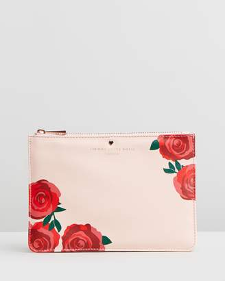 Johnny Loves Rosie Rose Printed Pouch