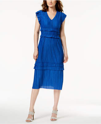 Taylor Pleated & Tiered Midi Dress