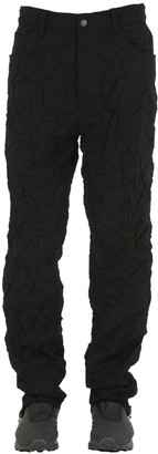 Facetasm Wrinkled Wool Jeans W/ Lining
