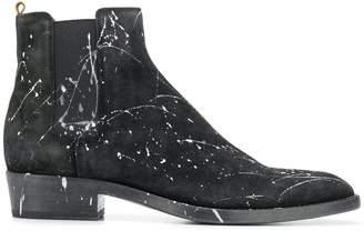 Buttero paint splatter ankle boots