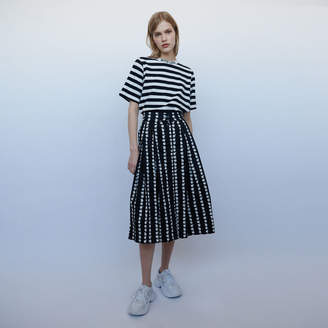 Maje Long skirt with daisy print