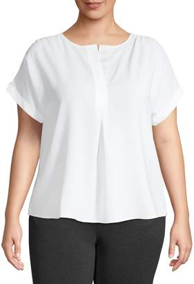 Lord & Taylor Plus Lillian Popover Blouse