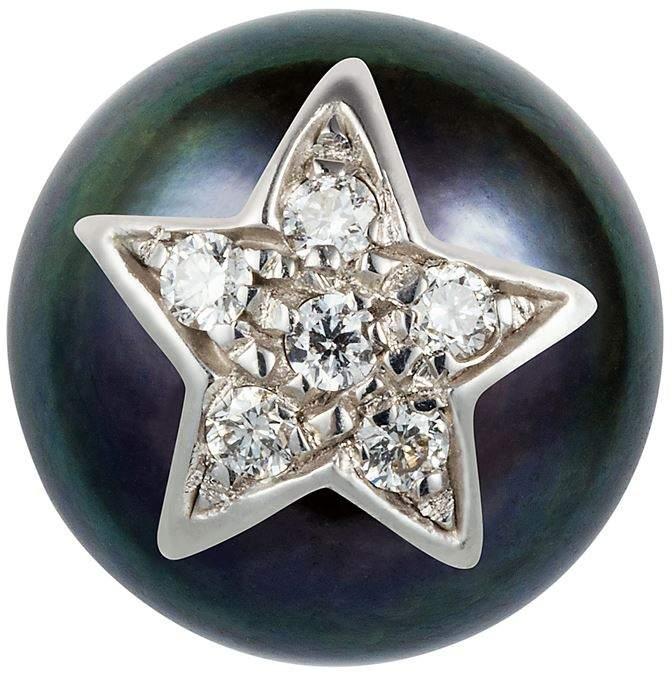 Superstellar Pearl Stud With Pavé Star