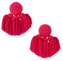 Sachin + Babi Mini Cha Cha Clip-On Tassel Earrings