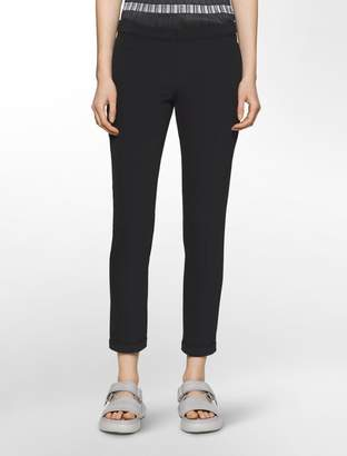 Calvin Klein platinum piper scuba extreme skinny cropped pants