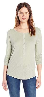 Calvin Klein Jeans Women's Long Sleeve Henley Shirt