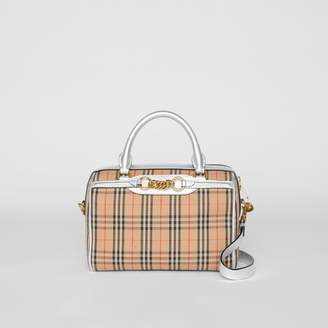 Burberry The Small 1983 Check Link Bowling Bag, Grey