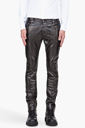 Thierry Mugler Black Faux Leather pants