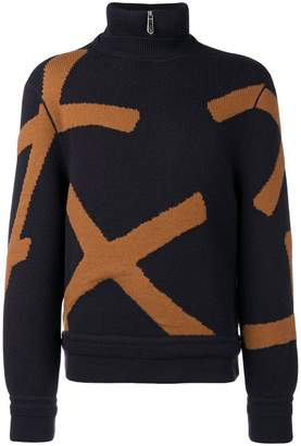 Ermenegildo Zegna XXX X print turtleneck jumper