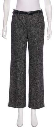 Christian Dior Wool & Silk-Blend Mid-Rise Pants