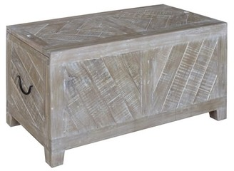 Crestview Collection Bengal Manor Light Mango Wood Sliding Top Cocktail Table w/ Wine Storage