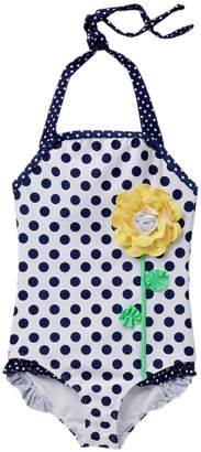 Love U Lots Flower Dot One-Piece Swimsuit (Toddler, Little Girls, & Big Girls)
