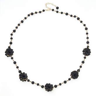 BIJOUX BAR Bijoux Bar Womens Black Beaded Necklace