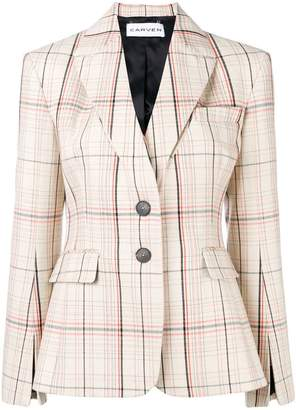 Carven checked fitted balzer