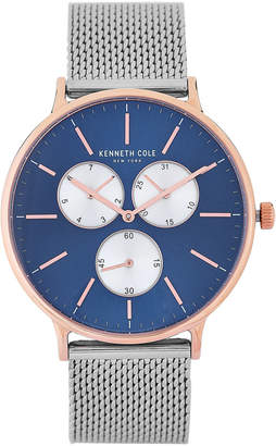 Kenneth Cole New York KC14946010 Blue Dial & Silver-Tone Mesh Strap Watch