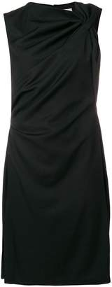 Lanvin asymmetrical collar draped dress