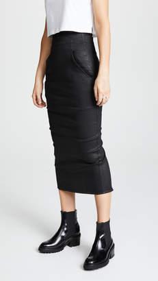 Rick Owens Dirt Pillar Calf Length Skirt