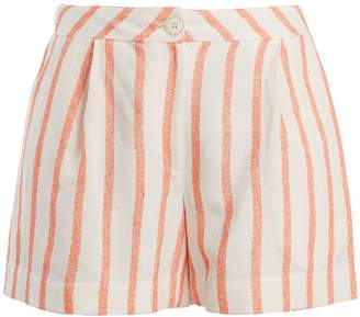 Thierry Colson Biarritz spugna high-waisted shorts
