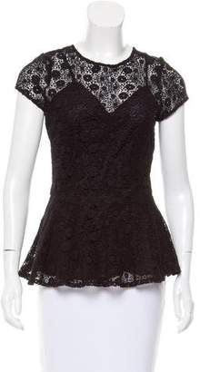 Miguelina Crocheted Peplum Top