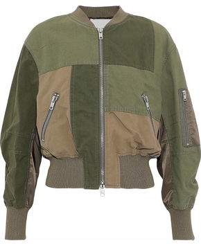3.1 Phillip Lim Patchwork Cotton-Canvas And Shell Bomber Jacket