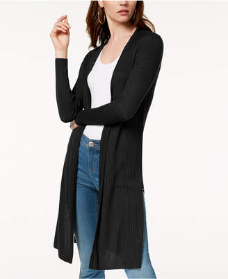 INC International Concepts I.n.c. Petite Ribbed Open-Front Duster Cardigan, Created for Macy's