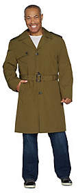 Nobrand NO BRAND London Fog Men's Water Resistant Trench Coat