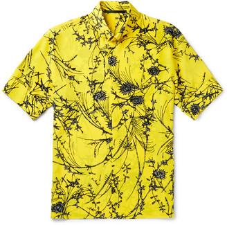 Haider Ackermann Button-Down Collar Floral-Print Silk Shirt $1,105 thestylecure.com
