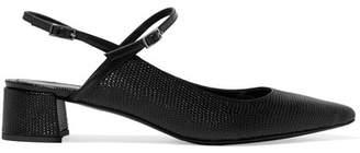 Erdem Aerin Embossed Leather Slingback Pumps - Black