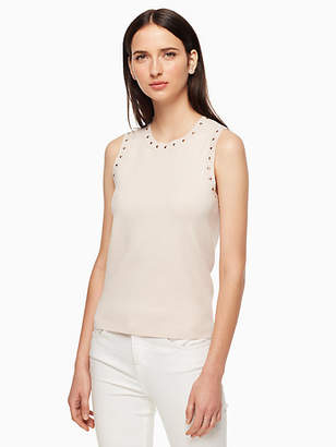Kate Spade Sleeveless studded sweater