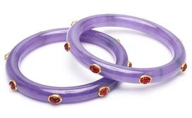 Amrita SinghReem Lavender Jade & Tourmaline Bangle Bracelet