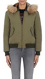 Yves Salomon Army by Women's Fur-Trimmed Bomber Jacket-387-military