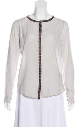 Maison Scotch Crepe Button-Up Top