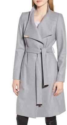 Ted Baker Wool Blend Long Wrap Coat