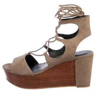 Rebecca Minkoff Suede Wedge Sandals