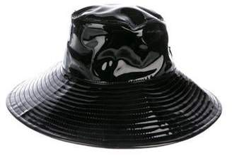 Eric Javits Faux Patent Leather Bucket Hat