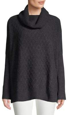 Lord & Taylor Cowlneck Cable-Knit Cashmere Sweater