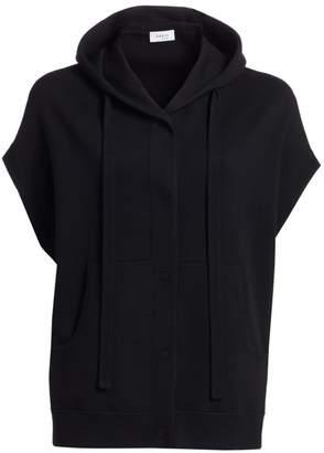 Akris Punto Hooded Cap Sleeve Stretch-Wool Vest