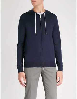 Eleventy Wool and silk-blend hoody