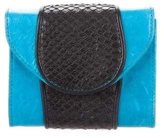 Khirma Eliazov Leather & Snakeskin Shoulder Bag