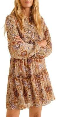 MANGO Floral-Print Shift Dress