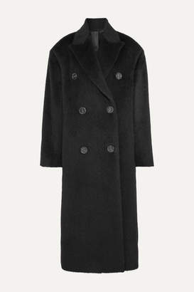 Acne Studios Octania Oversized Double-breasted Alpaca And Wool-blend Coat - Black