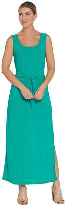 Women With Control Attitudes by Renee Tall Sleeveless Tie Front Knit Maxi Dress