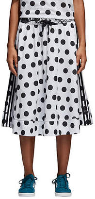 adidas Polka Dot Tricot Midi Skirt