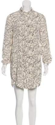 Tory Burch Silk Long Sleeve Shirtdress