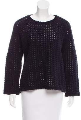 Balenciaga Textured Open Knit Sweater