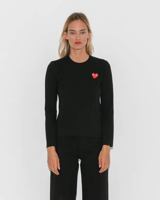 Comme des Garcons Black Play T-Shirt w/ Red Heart