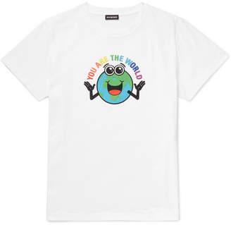 Balenciaga Slim-fit Printed Cotton-jersey T-shirt - White