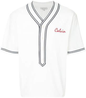 CK Calvin Klein logo v-neck T-shirt
